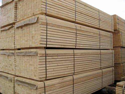 high quality European spruce timber